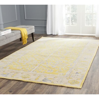 Maisie Yellow Rug Rug Size: Rectangle 4 x 6