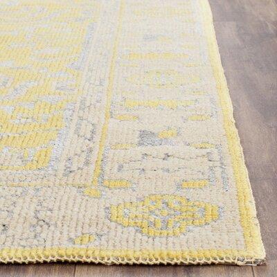 Caspian Yellow Rug Rug Size: 9 x 12