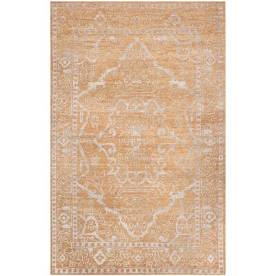 Caspian Brown / Silver Area Rug Rug Size: 5 x 8