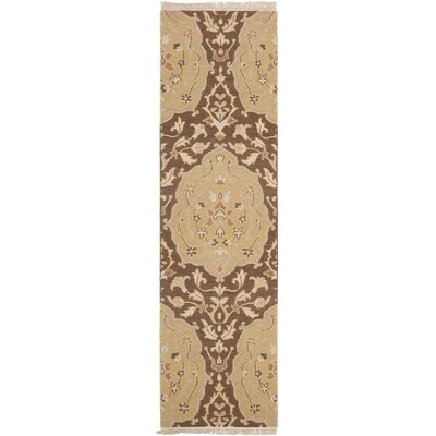 Saint-Paul Brown / Gold Area Rug Rug Size: Runner 23 x 8