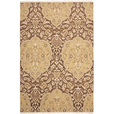 Saint-Paul Brown / Gold Area Rug Rug Size: 6 x 9