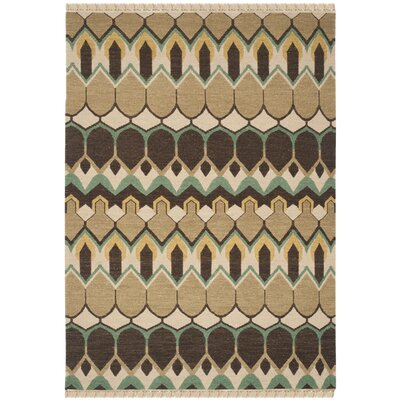 Saint-Paul Beige / Brown Area Rug Rug Size: 6' x 9'