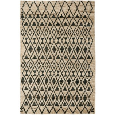 Velsen Hand-Knotted Wool Ivory/Black Area Rug Rug Size: Rectangle 4 x 6