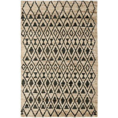 Velsen Hand-Knotted Wool Ivory/Black Area Rug Rug Size: Rectangle 5 x 8