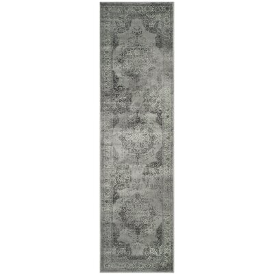 Makenna Gray/Green Area Rug Rug Size: Runner 22 x 16