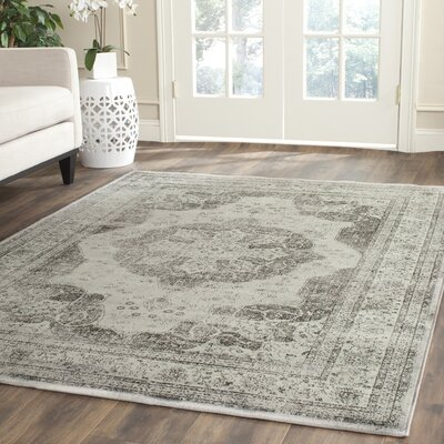 Makenna Gray/Green Area Rug Rug Size: Rectangle 3 x 53