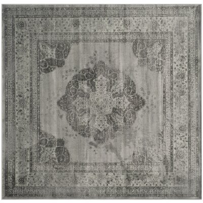 Makenna Gray/Green Area Rug Rug Size: Square 8