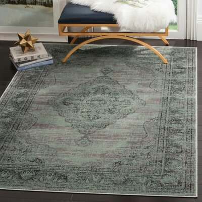 Makenna Light Blue Outdoor Area Rug Rug Size: 33 x 47