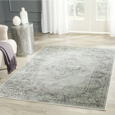Makenna Light Blue Area Rug Rug Size: Rectangle 4 x 57