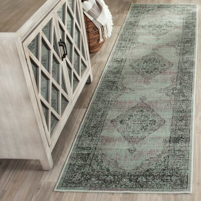 Makenna Light Blue Area Rug Rug Size: Runner 22 x 10