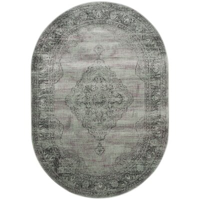 Makenna Light Blue Area Rug Rug Size: Rectangle 27 x 4