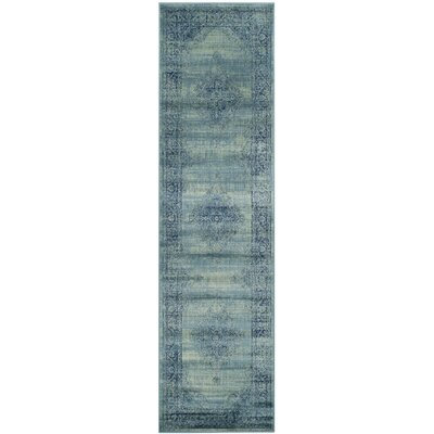 Vishnu Turquoise Area Rug Rug Size: Runner 22 x 8