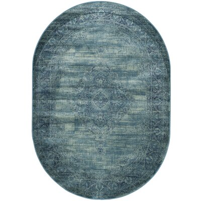 Makenna Turquoise / Multi Area Rug Rug Size: Oval 53 x 76