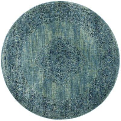 Makenna Turquoise / Multi Area Rug Rug Size: Round 8