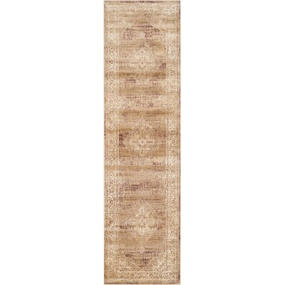 Todd Taupe Outdoor Rug Rug Size: Runner 22 x 16