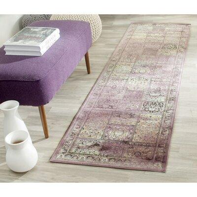 Vishnu Purple Rug Rug Size: Runner 22 x 8