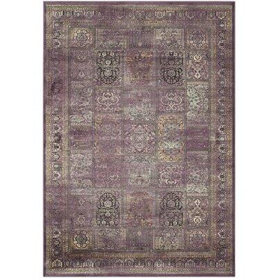 Vishnu Purple Rug Rug Size: 53 x 76