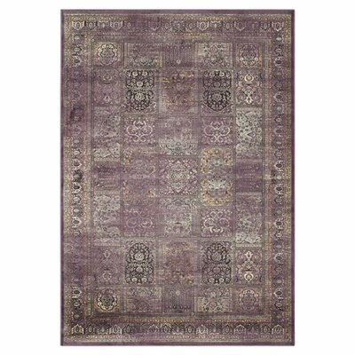 Vishnu Purple Rug Rug Size: 76 x 106