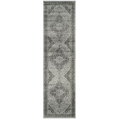 Vishnu Mint Gray Rug Rug Size: Runner 22 x 8