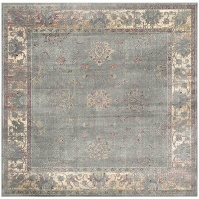 Makenna Grey/Multi Area Rug Rug Size: Square 6'