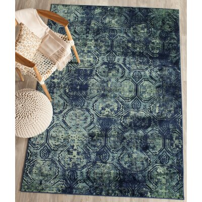 Makenna Navy Area Rug Rug Size: 33 x 57