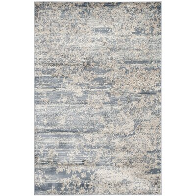 Makenna Gray & Ivory Area Rug Rug Size: Rectangle 51 x 77