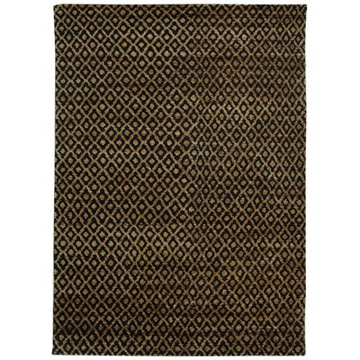 Pinehurst Black/Gold Area Rug Rug Size: 6 x 9