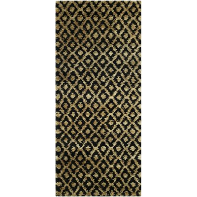 Pinehurst Black/Gold Area Rug Rug Size: Runner 26 x 12