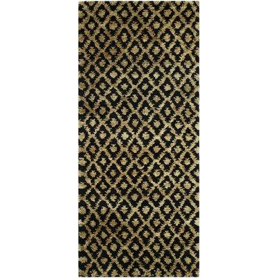 Pinehurst Black/Gold Area Rug Rug Size: Runner 26 x 12