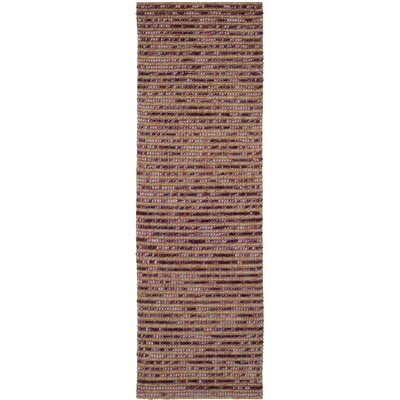 Makhi Purple Area Rug Rug Size: Runner 26 x 8