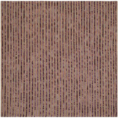 Makhi Purple Area Rug Rug Size: Square 6