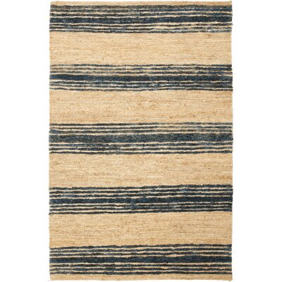 Pinehurst Natural/Blue Area Rug Rug Size: 4 x 6