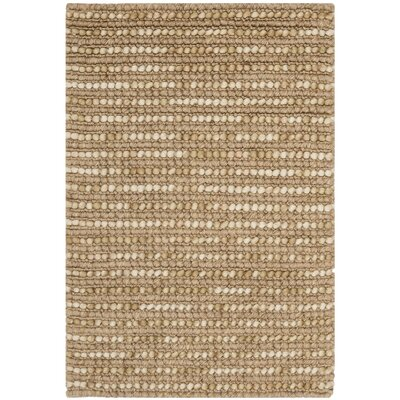 Makhi Hand-Knotted Beige Area Rug Rug Size: Rectangle 8 x 10