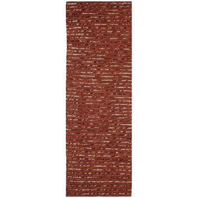 Makhi Hand-Knotted Rust Area Rug Rug Size: Rectangle 5 x 8
