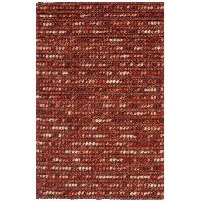Makhi Rust Area Rug Rug Size: 3 x 5