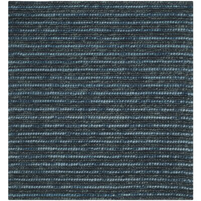 Makhi Dark Blue/Multi Area Rug Rug Size: Square 4