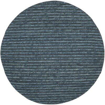 Makhi Dark Blue/Multi Area Rug Rug Size: Round 6