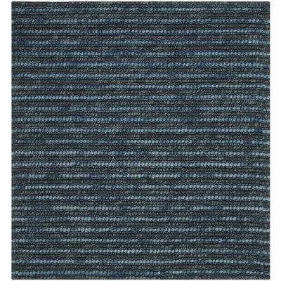 Makhi Dark Blue/Multi Area Rug Rug Size: Square 8