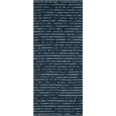 Pinehurst Dark Blue Area Rug Rug Size: Runner 26 x 10