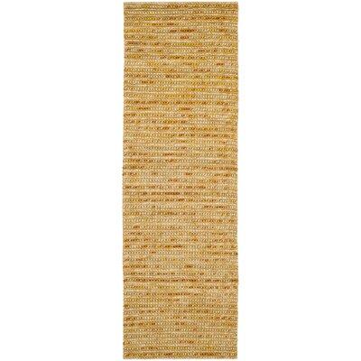 Makhi Gold Area Rug Rug Size: Runner 26 x 8