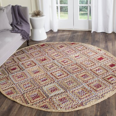 Francisco Natural & Red Area Rug Rug Size: Runner 23 x 6