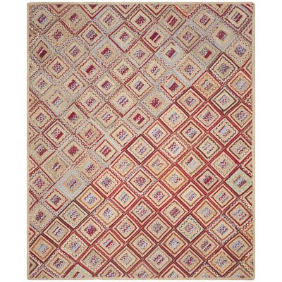 Francisco Natural & Red Area Rug Rug Size: Rectangle 8 x 10
