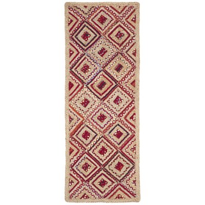 Francisco Natural & Red Area Rug Rug Size: Runner 23 x 8