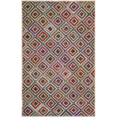 Francisco Natural & Red Area Rug Rug Size: Rectangle 3 x 5