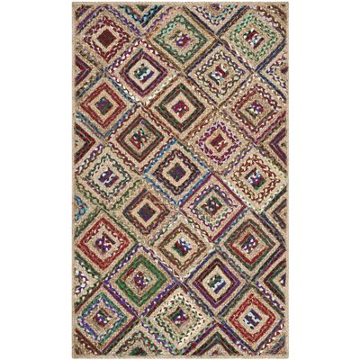 Francisco Natural & Red Area Rug Rug Size: 3 x 5