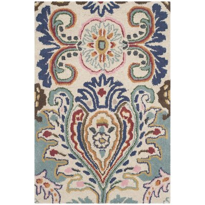 Rudra Blue Area Rug Rug Size: 2 x 3