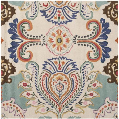 Rudra Blue Area Rug Rug Size: Square 5