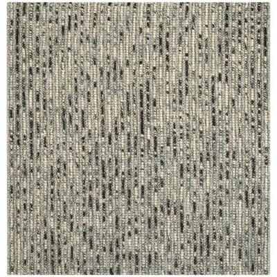 Pinehurst Grey Area Rug Rug Size: Square 6'