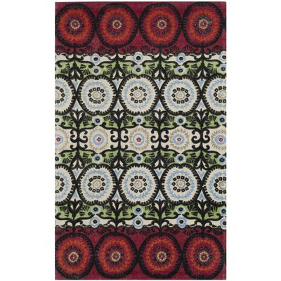 Allison Ivory & Multi Colored Area Rug Rug Size: 23 x 39