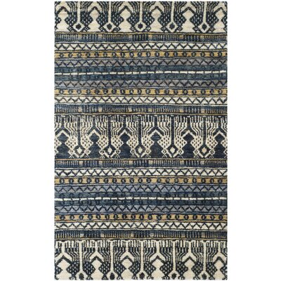 Pinehurst Hand-Knotted Beige Area Rug Rug Size: Rectangle 5 x 8